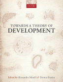 Pdf Towards a Theory of Development Telecharger