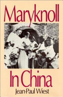 Maryknoll in China
