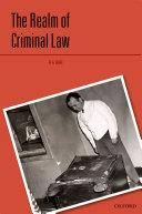 The Realm of Criminal Law [Pdf/ePub] eBook
