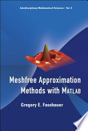 Meshfree Approximation Methods with Matlab  : (With CD-ROM)