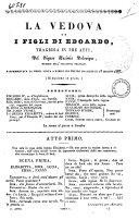 La vedova ed i figli di Edoardo tragedia in tre atti del signor Casimir Delavigne