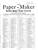 The Paper Maker And British Paper Trade Journal Vol Lxi No 1