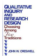 Qualitative Inquiry and Research Design