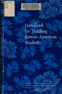 Handbook for Teaching Korean American Students