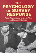 Pdf The Psychology of Survey Response