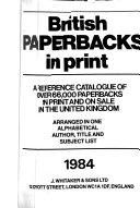 British Paperbacks In Print Book PDF