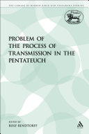 The Problem of the Process of Transmission in the Pentateuch Pdf/ePub eBook