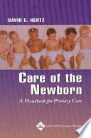 Care Of The Newborn Book PDF