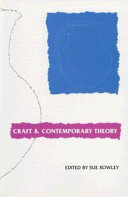 Craft and Contemporary Theory