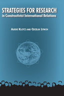 Strategies for Research in Constructivist International Relations