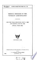 Medical Research in the Veterans Administration