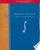 Student Solutions Manual for Stewart's Essential Calculus