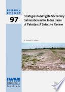 Strategies to Mitigate Secondary Salinization in the Indus Basin of Pakistan