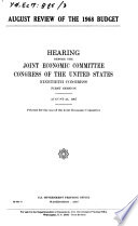 Hearings, Reports and Prints of the Joint Economic Committee