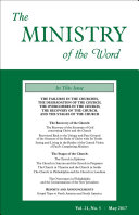 The Ministry of the Word, Vol 21, No. 5