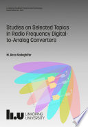 Studies on Selected Topics in Radio Frequency Digital to Analog Converters
