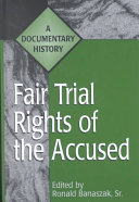 Fair Trial Rights of the Accused ebook