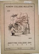 Albion College Bulletin