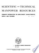 Scientific And Technical Manpower Resources