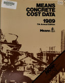 Means Concrete Cost Data  1989