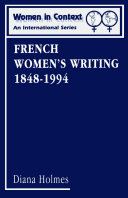 French Women's Writing 1848-1994
