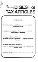 The Monthly Digest of Tax Articles