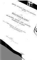 The Physiography of the McMurdo Sound and Granite Harbour Region