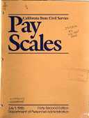Pay Scales in the California State Civil Service