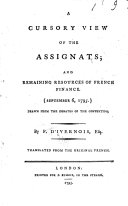 Pdf A Cursory View of the Assignats and Remaining Resources of French Finance, (September 6, 1795)