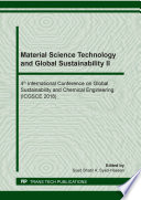 Material Science Technology And Global Sustainability Ii Book PDF