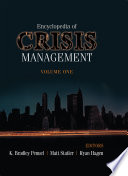 Encyclopedia Of Crisis Management Book PDF