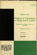 Incidence of Trichinellosis in Poland and Its Control