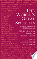 The World S Great Speeches Book PDF