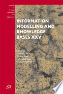 Information Modelling and Knowledge Bases XXV