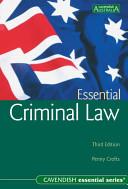 Essential Criminal Law