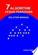 7 Algorithm Design Paradigms   Solution Manual