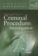 Principles of Criminal Procedure