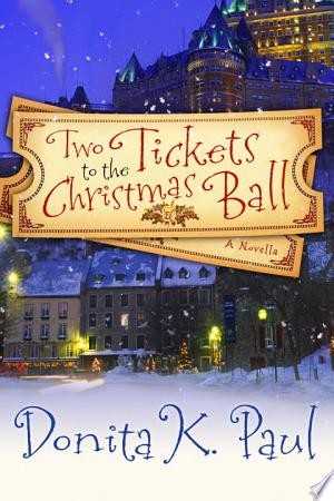 Two Tickets to the Christmas Ball banner backdrop