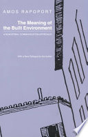 The Meaning of the Built Environment