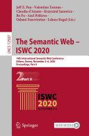 The Semantic Web     ISWC 2020