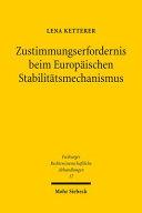 Zustimmungserfordernis beim Europäischen Stabilitätsmechanismus