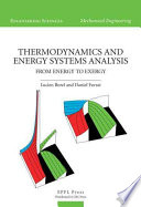 Thermodynamics and Energy Systems Analysis Book
