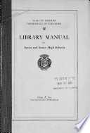 Library Manual for Junior and Senior High Schools