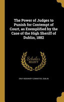 POWER OF JUDGES TO PUNISH FOR