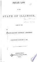 Laws Passed by the Legislative Council and the House of Representatives of Illinois Territory at Their    Session Held at Kashashia Book