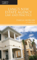 Lang and Morgan's NSW Estate Agency Law and Practice