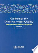 Guidelines for Drinking water Quality Book