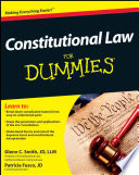 Constitutional Law For Dummies Book