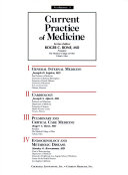 Current Practice of Medicine Book