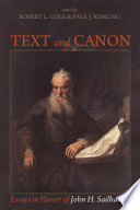 Text and Canon